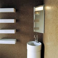 Corner Mirror For Bathroom by Wall Mounted Mirror Contemporary Rectangular Illuminated