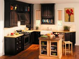 kitchen dark brown wooden cabinets corner types of kitchen