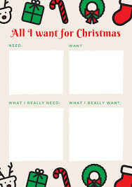 christmas wish list illustrated icons christmas wish list templates by canva