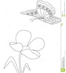 flower and butterfly pattern stock illustration image 68051477