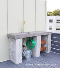 diy modern kitchens homemade modern ep96 diy outdoor kitchen with concrete countertop