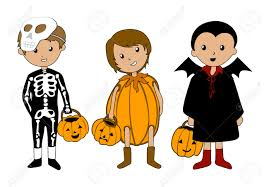 Skeleton Halloween Costume Kids Kids In Halloween Costumes Royalty Free Cliparts Vectors And