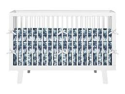 Hibiscus Crib Bedding Palm Trees And Blue Hibiscus Baby Crib Set From Surfer