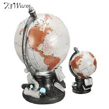 kiwarm vintage american style world globe ornaments globe map of