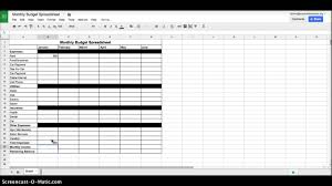 Monthly Bills Spreadsheet Monthly Budget Spreadsheet Instructions Youtube