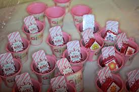 ideas for girl baby shower pink cup baby shower favor ideas for baby shower ideas gallery