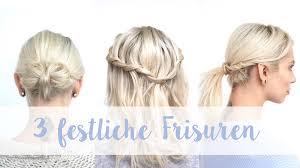 Hochsteckfrisurenen Selber Machen Einfach Schnell by 3 Festliche Frisuren Für Alle Haarlängen Ganz Einfach Schnell
