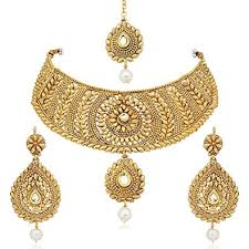 wedding gold set buy meenaz jewellery traditional bridal wedding gold plated