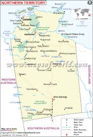 Map Of States With Capitals by Map Of Northern Territory Australia Maps Of World