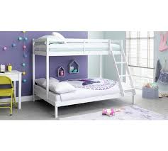 Buy HOME Kaycie Triple Bunk Bed With Elliott Mattress White At - Triple bunk beds with mattress