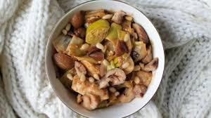 cuisiner marrons fondue de poireaux aux marrons recette par adelepomme
