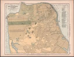 San Francisco Street Map by 1891 Matthews Northrup Co Map Of San Francisco Missing Marina