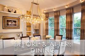 Modern Dining Room Light Fixture by Glamorous Modern Dining Room Before And After Robeson Design San