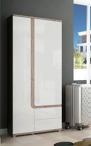 garderobenschrank design dielenschrank garderobenschrank 2 türig 85cm eiche nelson weiß