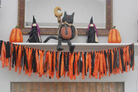 Halloween Paper Garland by Party Paper Scissors Halloween Fabric Streamer Garland