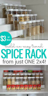Diy Kitchen Organization Ideas Best 25 Diy Spice Rack Ideas On Pinterest Spice Racks Kitchen