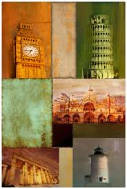 2panels famous city landmarks designs wall pictures canvas art oil