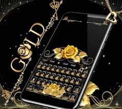 Gold Rose Gold Rose Theme For Free Emoji Keyboard Android Apps On Google Play