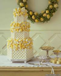 wedding cake images yellow wedding cakes martha stewart weddings