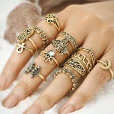golden rings images images Retro golden rings set shop better days jpg