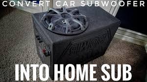 home theater subwoofer brands convert car subwoofer into home theater subwoofer youtube