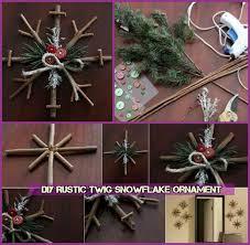 rustic twig snowflake ornament tutorial