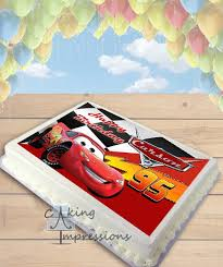 lightning mcqueen cakes cars lightning mcqueen edible image sheet cake topper