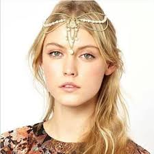 bohemian hair accessories shop bohemian hair chain on wanelo