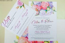 Wedding Invitation Information Card Floral Classic Wedding Invitation Multicolor Graphics