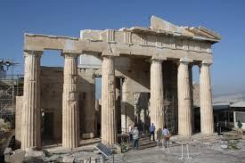greek temple floor plan propylaea ancient history encyclopedia