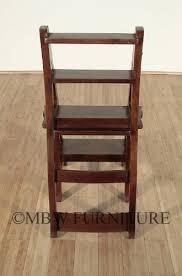 Library Chair Amazon Com Benjamin Solid Mahogany Convertible Ladder Chair