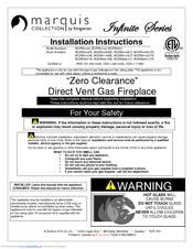 Fireplace Installation Instructions by Marquis Mqrb4436 Manuals