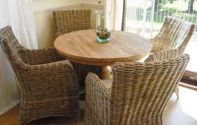 Rattan Dining Room Set Rattan Dining Room Chairs Shop The Best - Round dining table with wicker chairs