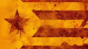 Flag Of Catalonia Flag Of Catalonia Yellow Red Stripe And Star With Watercolor Splash