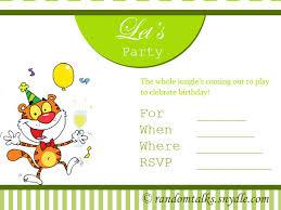free printable birthday invitations random talks