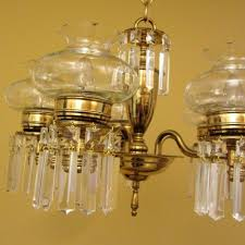 Colonial Chandelier 1950 Colonial Crystal Chandelier Cut Glass Shades