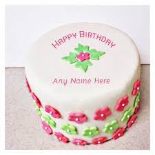 tiny flower most beautiful design birthday cake image