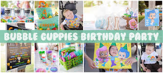 bubble guppies birthday party sarah halstead