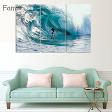 compare prices on canvas surf online shopping buy low price 3 piece wall art painting canvas painting surf at sea natural beauty painting modern picture home