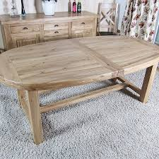 paris solid oak large oval extending dining table oak furniture