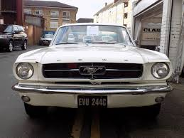 classic chrome ford mustang 1964 c white