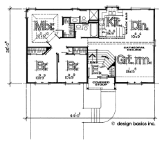 Design Basics Inc Traditional Style House Plan 3 Beds 2 00 Baths 1125 Sq Ft Plan