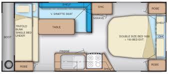 Caravan Floor Plan Layouts Caravans For Hire Cannington Rv Centre