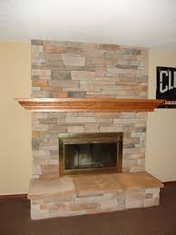 Living Room Red Brick Fireplace Indoor Fireplace Cultured Stone Raised Hearth Remodel Of Red