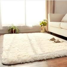 tapis de chambre 3 tailles beige tapis pour salon shaggy ivoire tapis anti