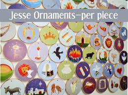 advent individual tree ornaments multi colored per