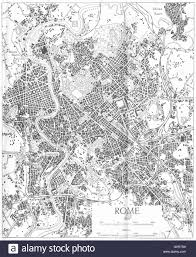 Rome Italy Map Italy Rome 1945 Vintage Map Stock Photo Royalty Free Image
