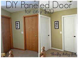 hollow core bore to a beautiful updated door diy slab door makeover doors how to painting