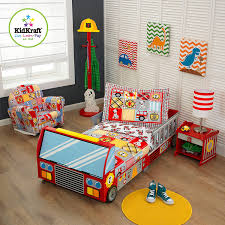 amazon com kidkraft toddler fire truck bedding toys u0026 games