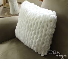 Knitted Cushions Free Patterns One Hour Arm Knit Pillow Pattern Simply Maggie Getting Crafty